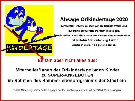 Plakat: Ev. Kirchengemeinde Oberriexingen